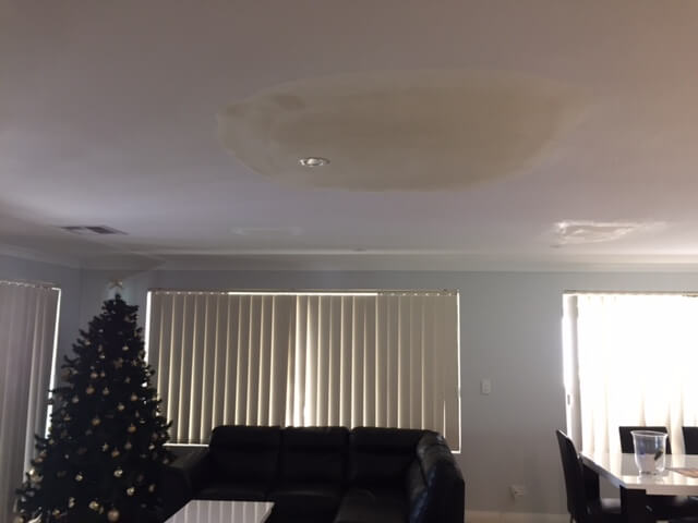 water damage ceiling issue